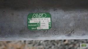 Ось AL-KO 1200 кг 1
