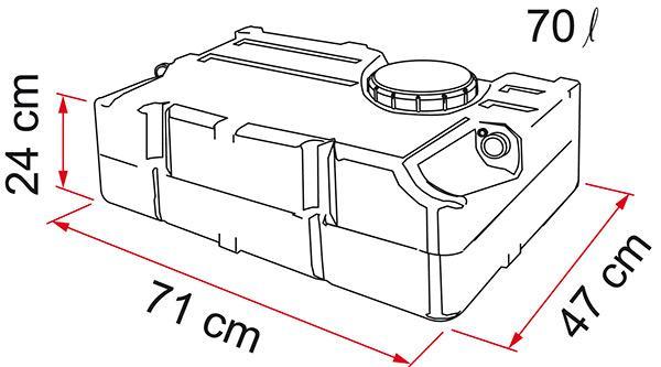Бак для чистой воды Fiamma 1