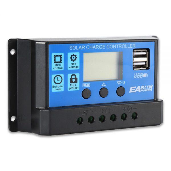 Контроллер PWM, 30А. С ЖК дисплеем — купить онлайн с доставкой