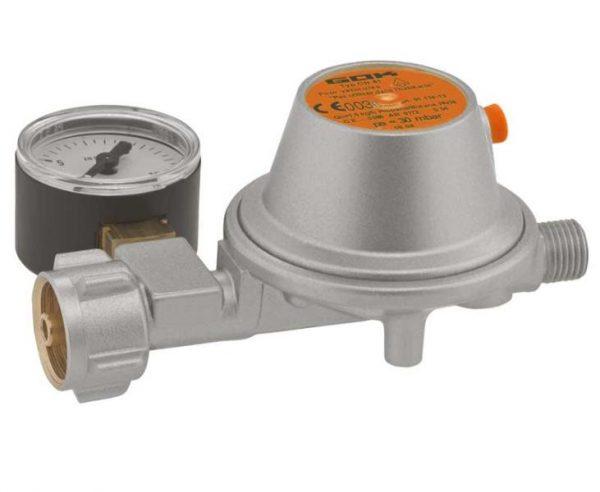 Редуктор GOK EN61 с монометром, 1.5 кг/ч, 50 мБар