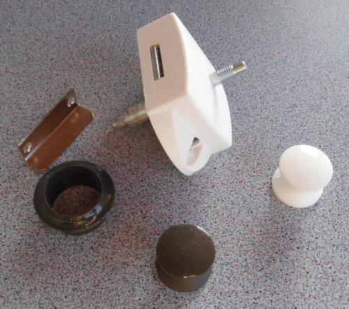 Мебельный замок с двойной кнопкой 1