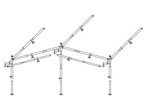 Стальной каркас для тент-палатки 240/300 1