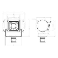 Dometic PerfectView CAM 45 NAV камера видеонаблюдения 1