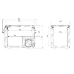 Фото — Dometic CFX3 компрессорный автохолодильник 1