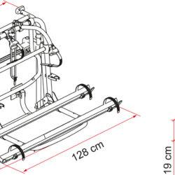 Фото — Fiamma Carry-Bike Lift 77 велосипедные крепления для автодомов 0