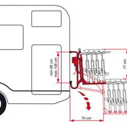 Fiamma Carry-Bike Lift 77 велосипедные крепления для автодомов 1