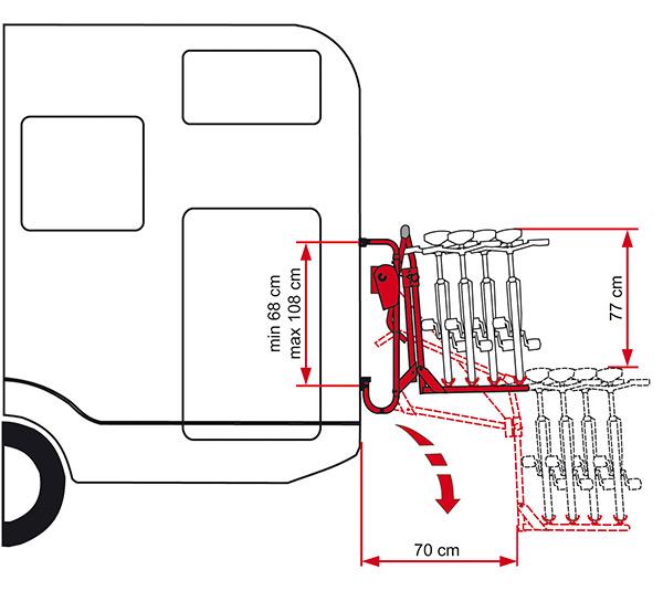 Fiamma Carry-Bike Lift 77 велосипедные крепления для автодомов — купить онлайн с доставкой