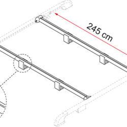 Фото — Fiamma Roof Rail рейлинги на крышу 1