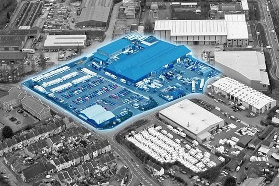 Как расширилось производство Bailey в 1981 г. (новая территория выделена цветом)