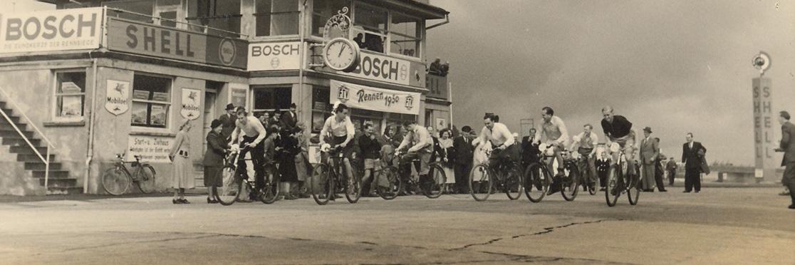 Велосипедный заезд сотрудников Reich, 1950 год