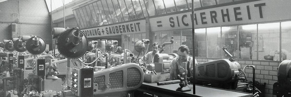 Производственный цех завода Reich, 1961 год